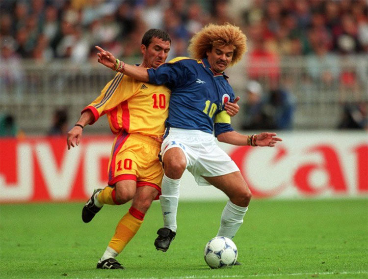 Carlos Valderrama in his playing days